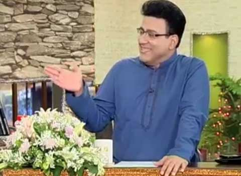 Dunya News: Junaid saleem's son appearance in Hasb Haal