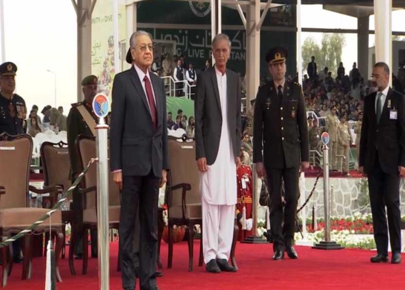 23 March 2019 4 - یوم پاکستان: مسلح افواج کی مشترکہ پریڈ، مہاتیر، صدر، وزیراعظم کی