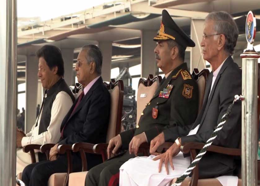 23 March 2019 6 - یوم پاکستان: مسلح افواج کی مشترکہ پریڈ، مہاتیر، صدر، وزیراعظم کی