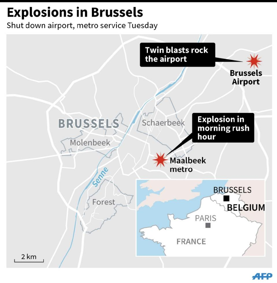 At Least Dead As Blasts Hit Brussels Airport Subway Station - Brussels airport map