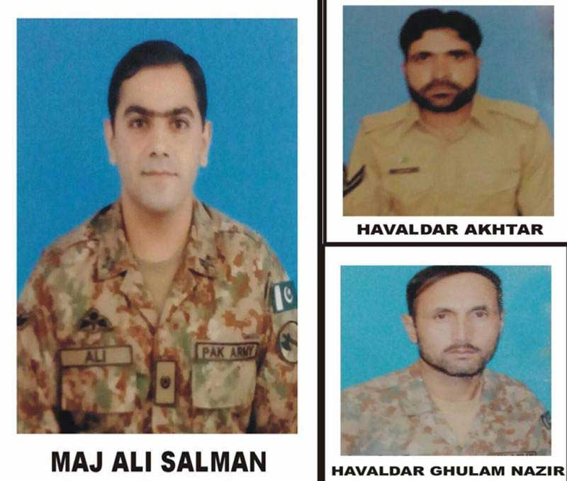 Four soldiers including an officer martyred in Upper Dir raid
