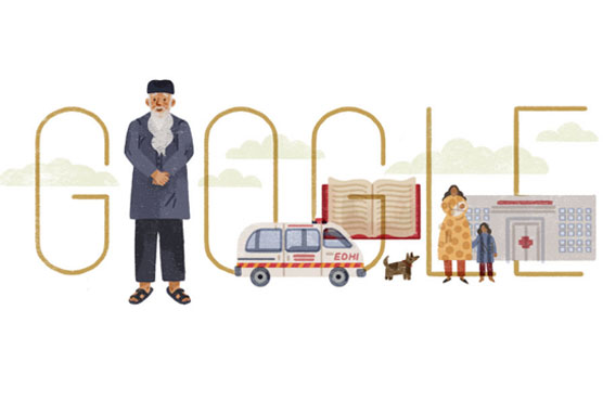 Google pays tribute to Edhi on 89th birth anniversary