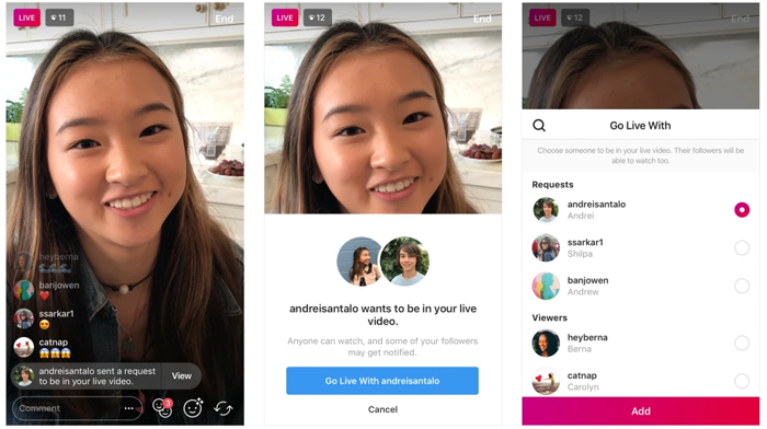 Instagram adds new feature request to join someones live stream photo method to accept friend request to join live ccuart Image collections