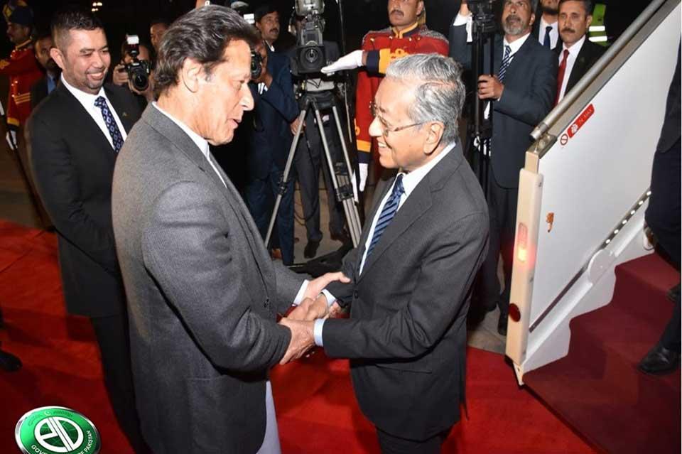 malysia3 - ملائیشیا کے وزیراعظم مہاتیر محمد اسلام آباد پہنچ گئے