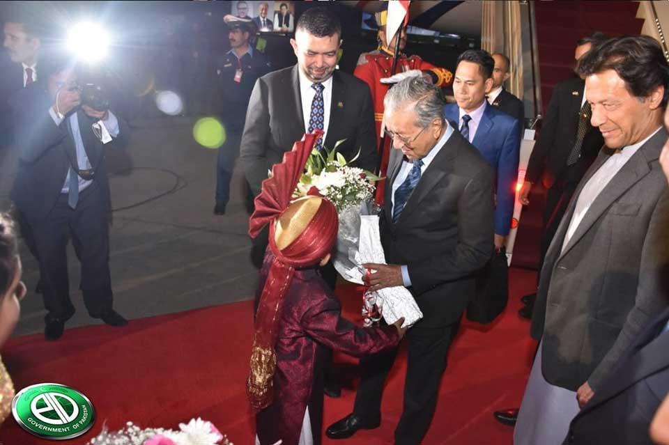 malysia4 - ملائیشیا کے وزیراعظم مہاتیر محمد اسلام آباد پہنچ گئے