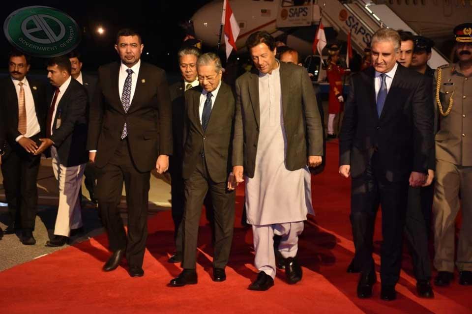 malysia5 - ملائیشیا کے وزیراعظم مہاتیر محمد اسلام آباد پہنچ گئے