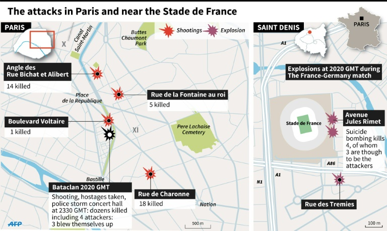 Bataclan Concert Hall Paris Map.Gunmen Kill 160 In Wave Of Attacks Across Paris World Dunya News