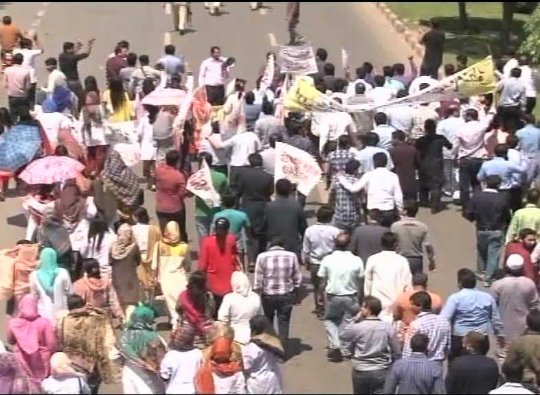 Image result for doctors protest on mall road