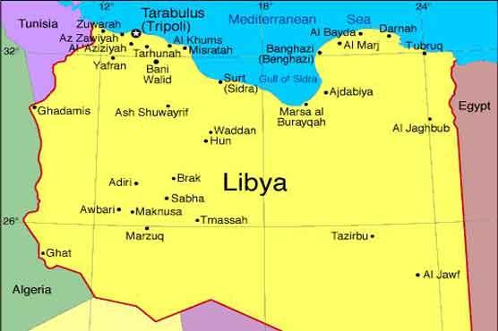 libya map of control