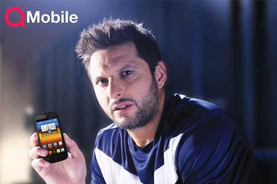 Afridi alleges his exclusive loyalty to QMobile