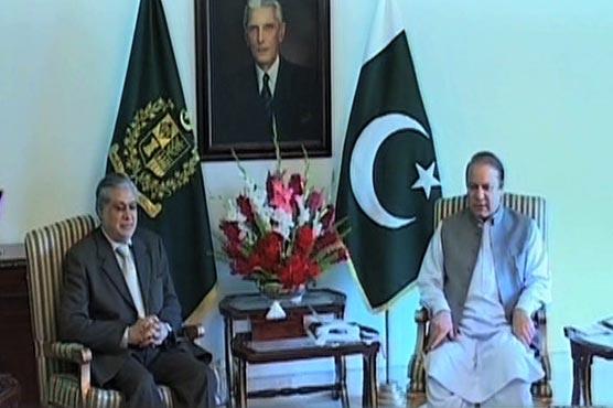 Panama Leaks: Ishaq Dar meets Rehman Malik, briefs PM afterwards