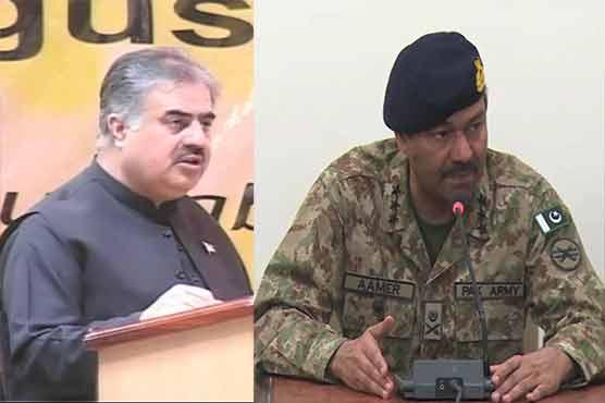 Sanaullah Zehri, Lt Gen Amir bash India for spreading unrest in Pakistan