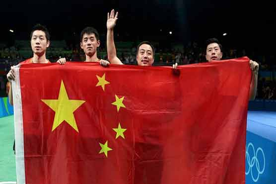 Olympics-Table Tennis-Another Chinese sweep complete with men's team win