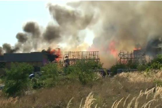 Fire severely damages 'Knightfall' set in Prague: media