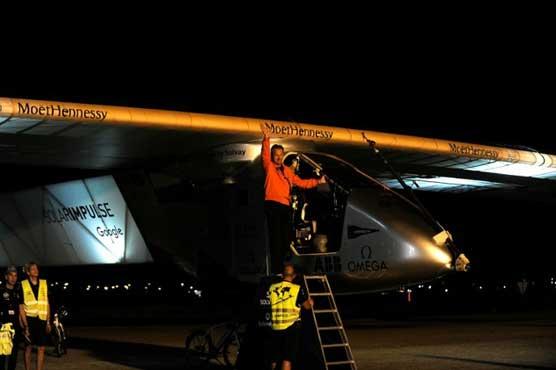 Solar-powered plane leaves Spain for Egypt on penultimate leg of global trip