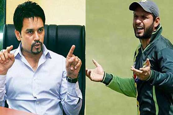 World T20: Anurag Thakur slams Shahid Afridi for 'Kashmir comment'