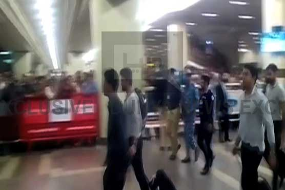 Pakistan cricket team arrive home after elimination from World T-20