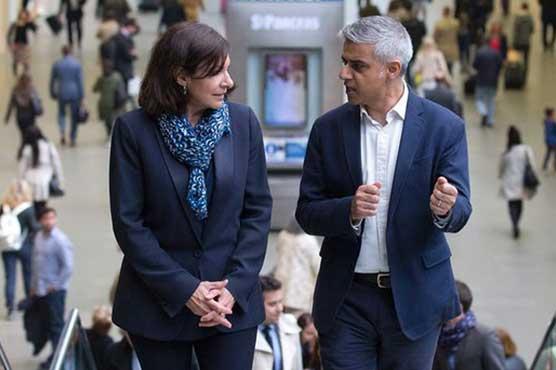 Paris mayor meets new London counterpart Khan