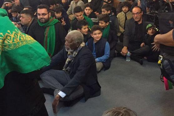 Morgan Freeman attends Ashura Majlis in London