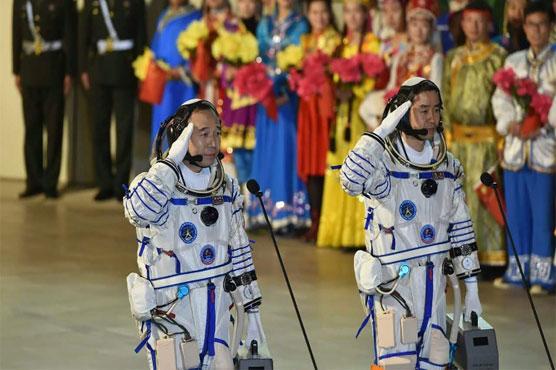 China s manned spacecraft shenzhou 11 blasts off