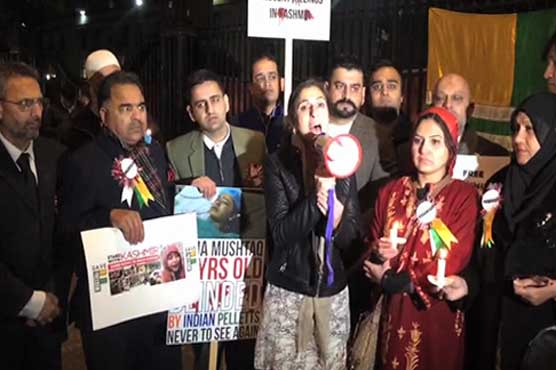 Kashmiris protest outside PM May's residence in London