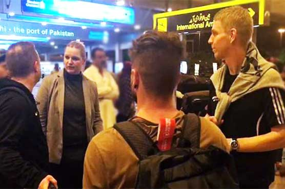 German coaches arrive in Karachi to train aspiring young footballers