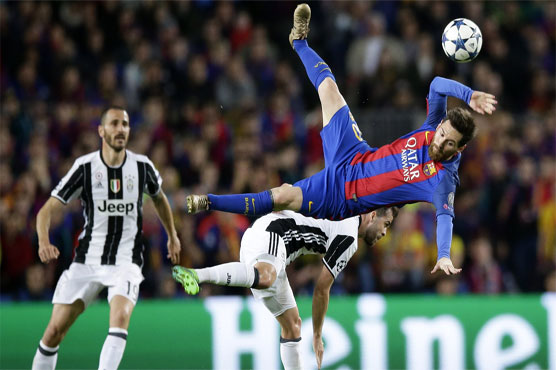 Football: Juventus hold firm to knock out Barcelona