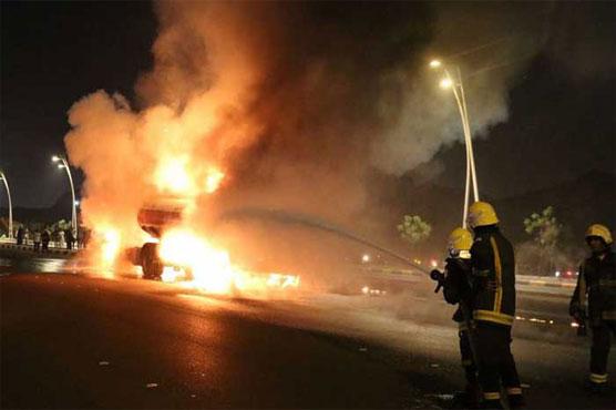 Fire on Makkah-Jeddah expressway under control: Saudi authorities