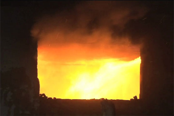 Lahore: Fire at plastic godown causes huge loss