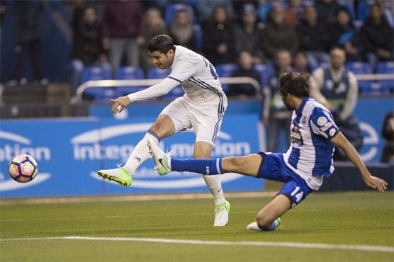 Football: Ronaldo-less Madrid hit Deportivo for six