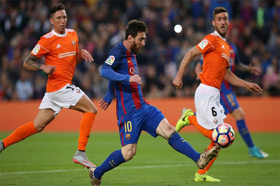 Football: Messi scores twice as Barca hit Osasuna for seven