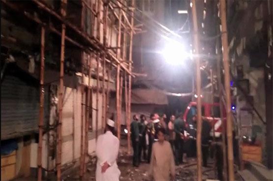 Blaze gutted shoe godown in Lahore
