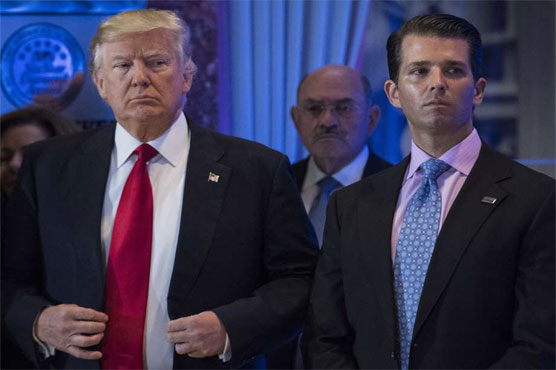 Trump weighed in on son's statement 'as any father would'