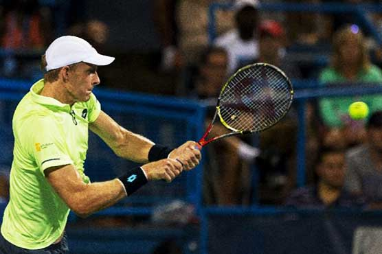 Sock topples Raonic to advance to semis at Citi Open