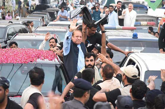 Nawaz Sharif's 'homecoming rally' on its way to Lahore via GT Road