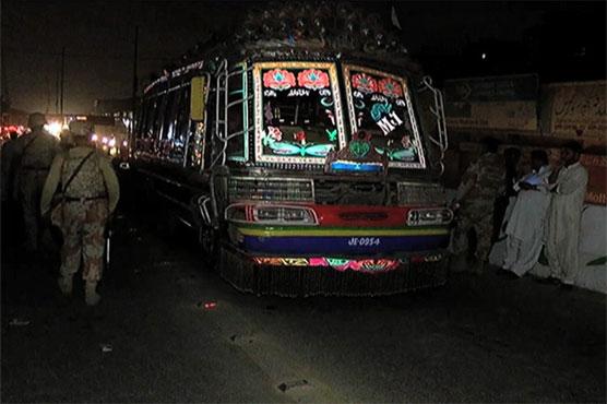 Karachi: One killed, 12 injured as bus hit height barrier