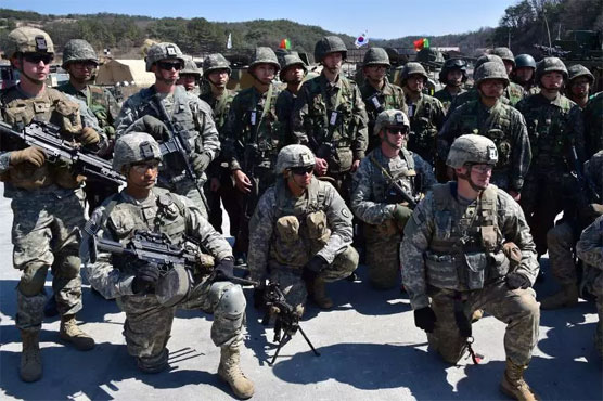 USA and S. Korean troops start drills amid N. Korea standoff