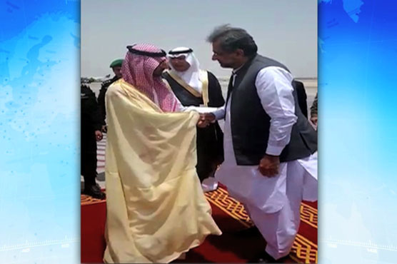 Shahid Khaqan Abbasi held meeting with Saudi Crown Prince in Jeddah