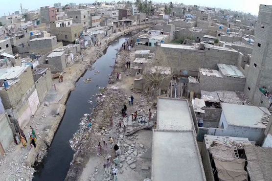 Karachi's poor sewage system makes low-lying areas vulnerable to flooding