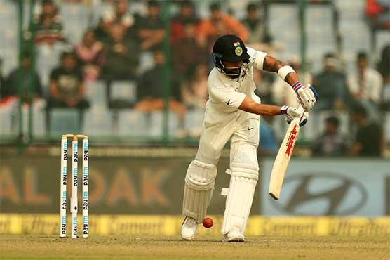 Kohli powers past 5,000 runs as India target big score