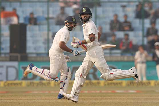 India declare amid stoppage calls in pollution-hit Test