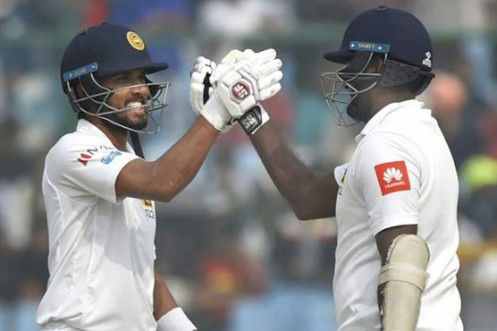 Sri Lanka's Mathews, Chandimal hit centuries in 3rd India Test