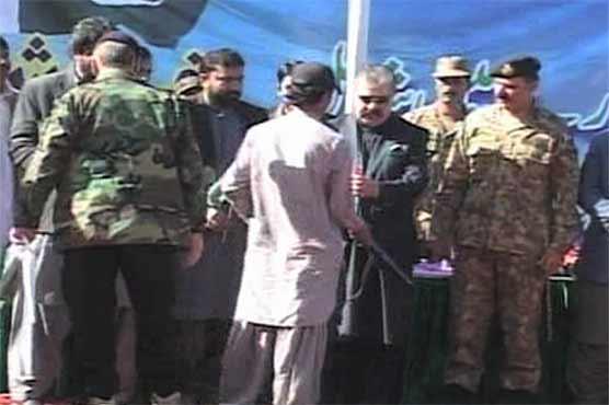 313 rebel militants surrender before the state