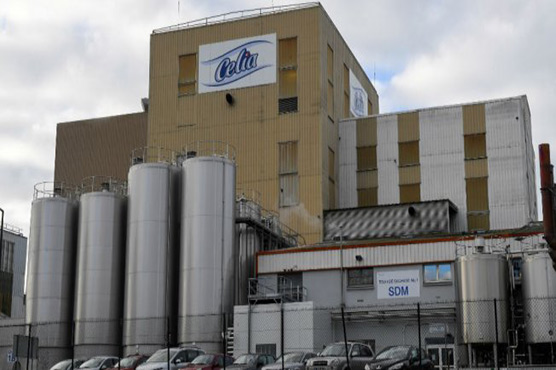 The Celia dairy company's infant milk factory that belongs to the LNS Lactalis group in Craon western France