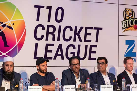 Afridi becomes first player to make hat-trick in T10 cricket league