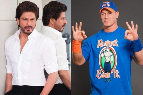 Shah rukh khan has a light twitter exchange with john cena shah rukh khan has a light twitter exchange with john cena m4hsunfo