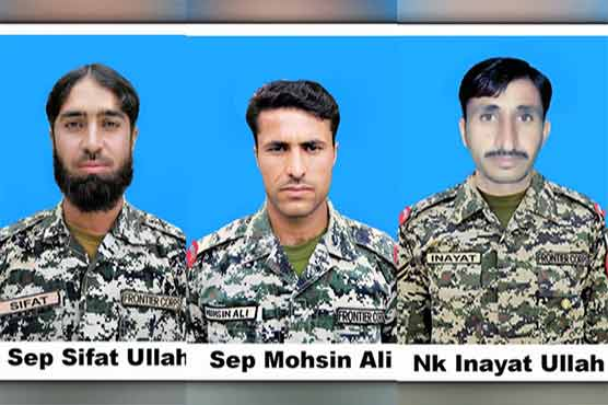 Three FC men martyred in N.Waziristan blast