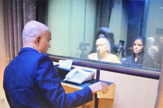 Kulbhushan Jadhav 'meets' wife, mother through a glass screen