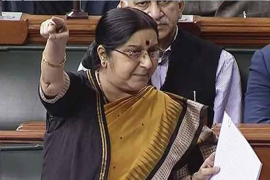 Pakistan used Jadhav's meeting with family as propaganda tool: Sushma Swaraj
