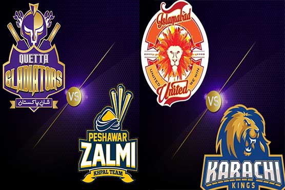 PSL 2017: Quetta Gladiators field against Peshawar Zalmi